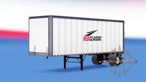 Skin Red Classic on trailer for American Truck Simulator