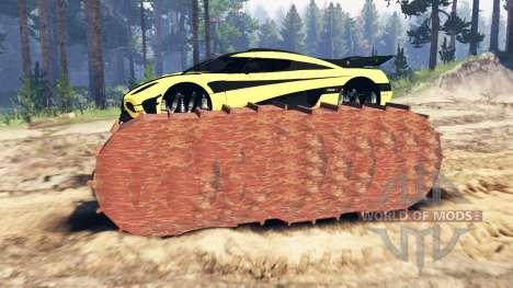 Koenigsegg One:1 prototype for Spin Tires
