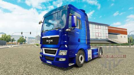 Skin Fantastic Blue tractor MAN for Euro Truck Simulator 2