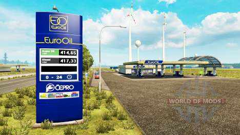 New colors for the gas station v0.5 for Euro Truck Simulator 2