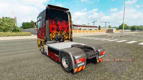 Skin Germany in the tractor MAN for Euro Truck Simulator 2