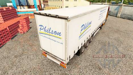 Skin Philson on a curtain semi-trailer for Euro Truck Simulator 2