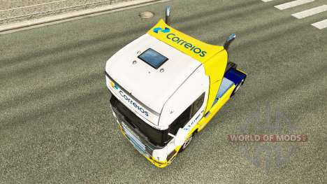 Correios skin for Scania truck for Euro Truck Simulator 2