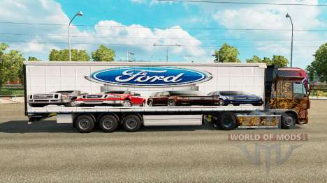 Skin Ford v2.0 curtain semi-trailer for Euro Truck Simulator 2