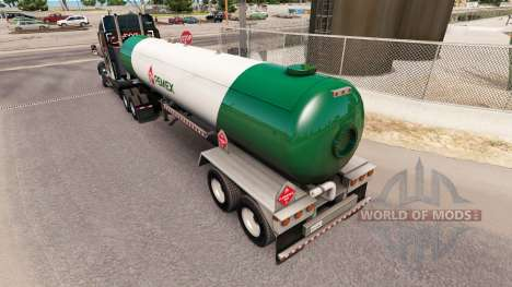 Skin v3 Pemex gas semi-tank for American Truck Simulator