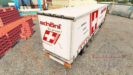 Skin Schoni on a curtain semi-trailer for Euro Truck Simulator 2