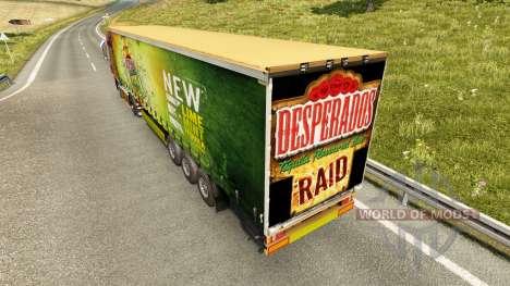 Skin Desperados on a curtain semi-trailer for Euro Truck Simulator 2