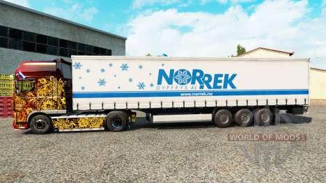 Skin Norrek on a curtain semi-trailer for Euro Truck Simulator 2