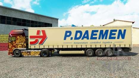Skin P. Daemen on a curtain semi-trailer for Euro Truck Simulator 2