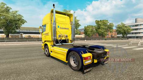 Correios skin for Scania Streamline truck for Euro Truck Simulator 2