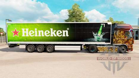 Skin Heineken for curtain semi-trailer for Euro Truck Simulator 2