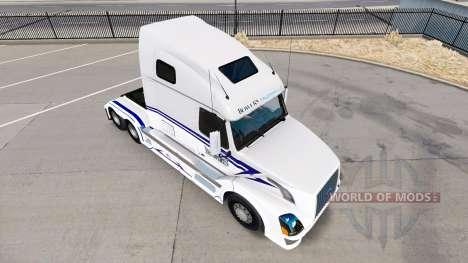 Skin on Bowers Trucking LLC truck tractor Volvo  for American Truck Simulator