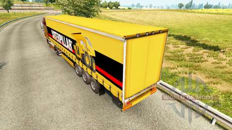 The skin of the Caterpillar on a curtain semi-tr for Euro Truck Simulator 2