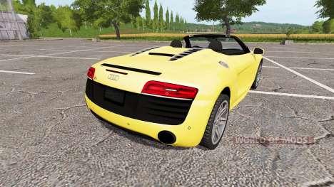 Audi R8 V10 Spyder for Farming Simulator 2017