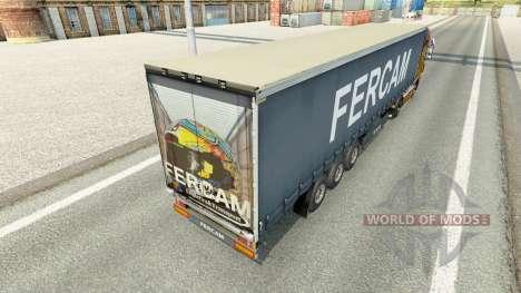 Fercam skin on the trailer curtain for Euro Truck Simulator 2