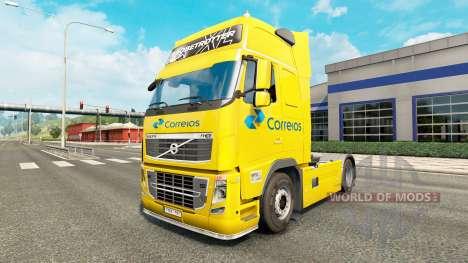 Correios skin for Volvo truck for Euro Truck Simulator 2