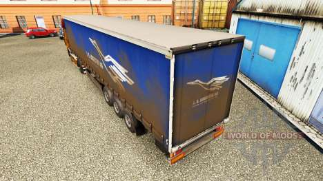 Skin J. S. Logistik AG on a curtain semi-trailer for Euro Truck Simulator 2