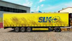 Skin SLK Kock GmbH on a curtain semi-trailer for Euro Truck Simulator 2