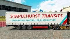 Staplehurst Transits skin on the trailer curtain for Euro Truck Simulator 2