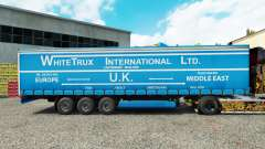 Skin White Trux on a curtain semi-trailer for Euro Truck Simulator 2