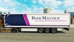Skin Davie Malcolm on a curtain semi-trailer for Euro Truck Simulator 2