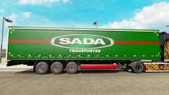 SADA Transportes skin for trailer curtain for Euro Truck Simulator 2