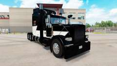 Skin White Z Stripe on the truck Peterbilt 389 for American Truck Simulator