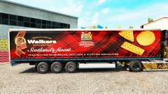 Skin Walkers on a curtain semi-trailer for Euro Truck Simulator 2