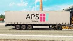 Skin APS on a curtain semi-trailer for Euro Truck Simulator 2