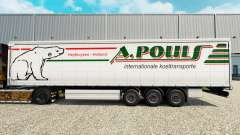 Skin A. Pouls on a curtain semi-trailer for Euro Truck Simulator 2