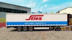 Skin Sties at the curtain semitrailer for Euro Truck Simulator 2