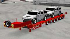 Low sweep with cars Hummer for American Truck Simulator