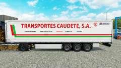 Skin Transportes Caudete S. A. curtain semi-trailer for Euro Truck Simulator 2
