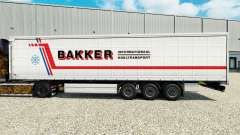 Skin Bakker on a curtain semi-trailer for Euro Truck Simulator 2