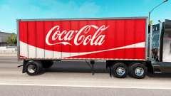 Skin Coca-Cola metal semi-trailer for American Truck Simulator