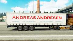 Skin Andreas Andresen on curtain semi-trailer for Euro Truck Simulator 2