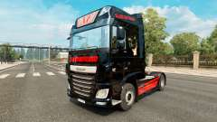 Skin Black Cat Trans for the truck DAF for Euro Truck Simulator 2