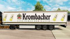 Skin Krombacher on a curtain semi-trailer for Euro Truck Simulator 2
