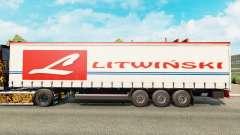 Skin Litwinski on a curtain semi-trailer for Euro Truck Simulator 2