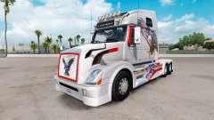 USA Eagle skin for Volvo VNL 670 truck for American Truck Simulator