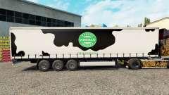 Skin Robert Wiseman Dairie on a curtain semi-trailer for Euro Truck Simulator 2