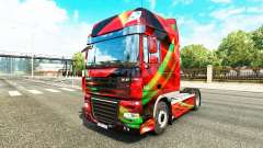 Red Effect skin for DAF truck for Euro Truck Simulator 2