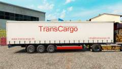 TransCargo skin for curtain semi-trailer for Euro Truck Simulator 2