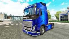 Fantastic Blue skin for Volvo truck for Euro Truck Simulator 2