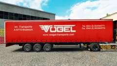 Skin Vogel on a curtain semi-trailer for Euro Truck Simulator 2