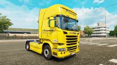 Correios skin for Scania Streamline truck for Euro Truck Simulator 2