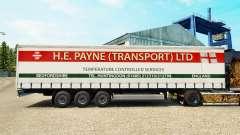 Skin H. E. Payne Transport on semi-trailer curtain for Euro Truck Simulator 2