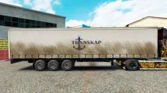 Skin Transkap on a curtain semi-trailer for Euro Truck Simulator 2