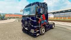 Skin Spider-Man on a tractor unit Mercedes-Benz for Euro Truck Simulator 2