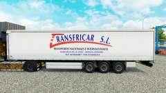 Skin Transfricar S. L. curtain semi-trailer for Euro Truck Simulator 2
